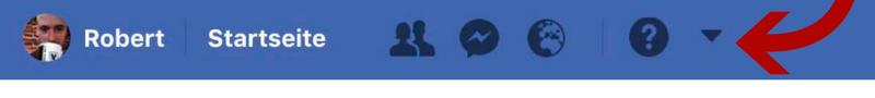 Facebook Privatsphäre Einstellungen Pfeil