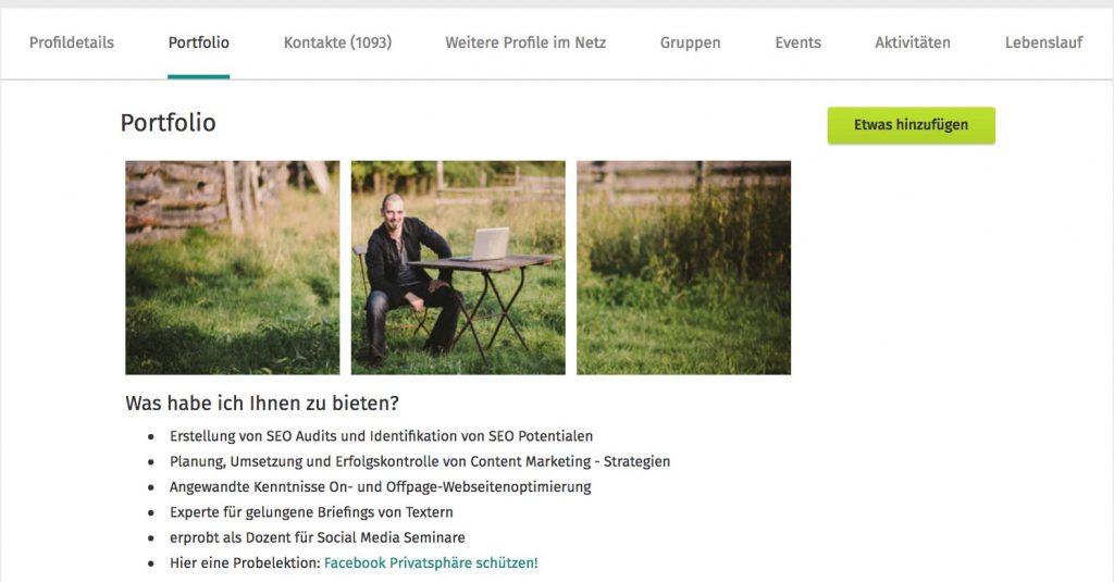 Xing Profil professionell gestalten: ein individuelles XING Portfolio erstellen